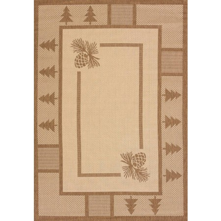 Pine Court Brown Area Rug - Outdoor Rug