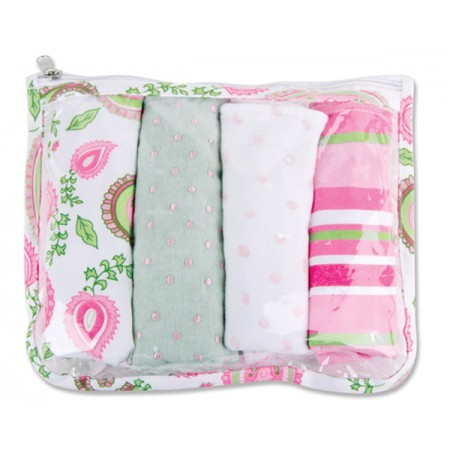 Zip Pouch 4 Pack Burp - Paisley