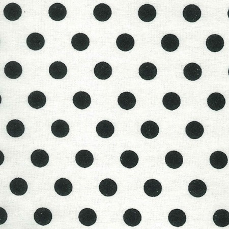 Crib Sheet - Black And White Dot Print Flannel