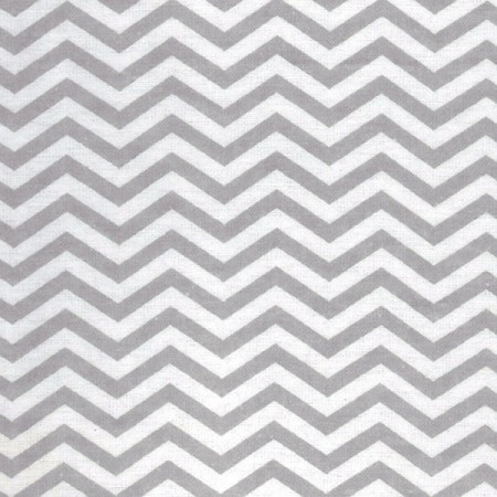 Crib Sheet - Gray And White Chevron Print Flannel