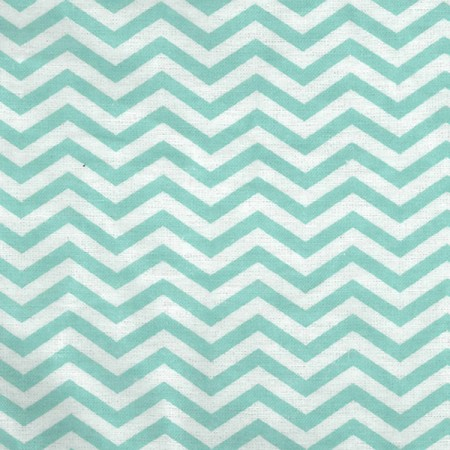 Crib Sheet - Mint Green And White Chevron Print Flannel
