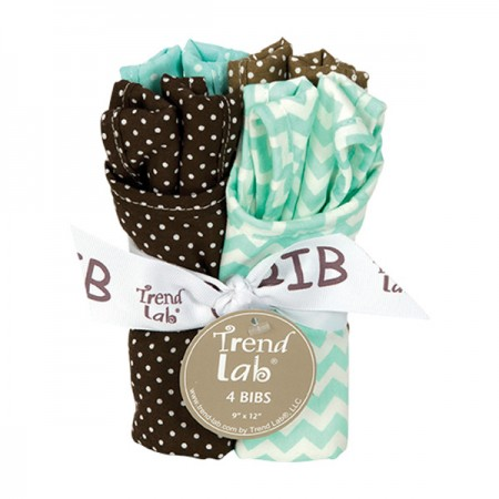 Bouquet 4 Pack Bib - Cocoa Mint
