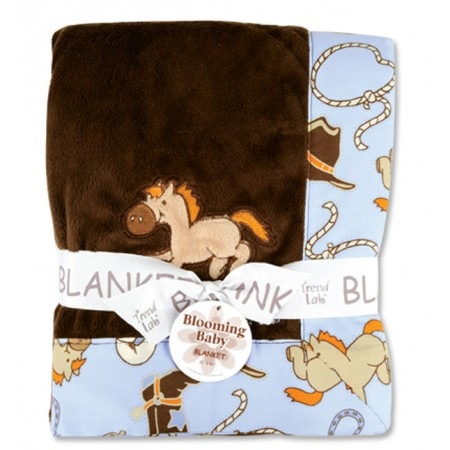 Receiving Blanket - Framed Cowboy Baby