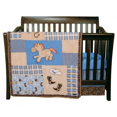 Cowboy Baby - 3 Piece Crib Set