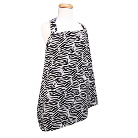 Nursing Cover - Black & White Zebra