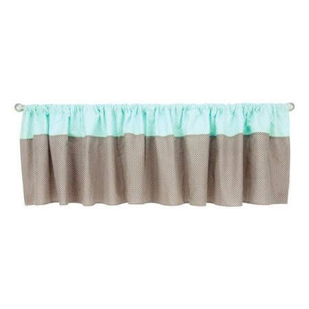 Cocoa Mint - Window Valance