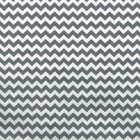 Gray And White Chevron - Crib Sheet