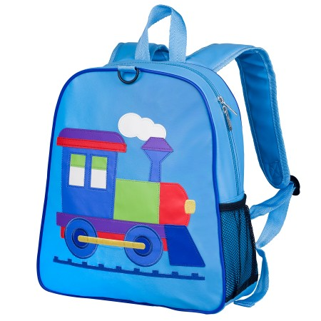 Olive Kids Train Embroidered Backpack