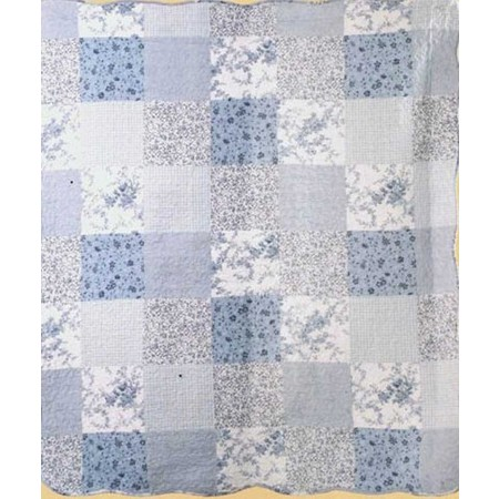 Blue Patch Throw Size Quilt