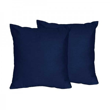 Navy & White Chevron Accent Pillow - Set of 2