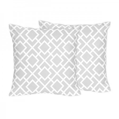 Diamond Gray & White Accent Pillows - Set of 2