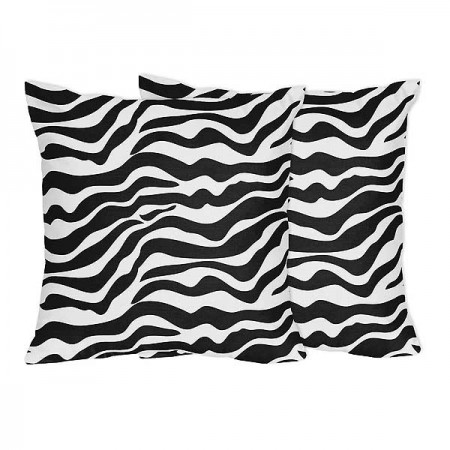 Zebra Accent Pillows - Set of 2