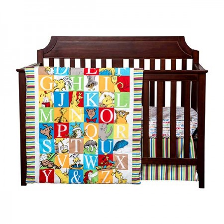 Dr Seuss Alphabet Seuss 3 Piece Crib Set