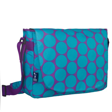 Big Dot Aqua Laptop Messenger Bag