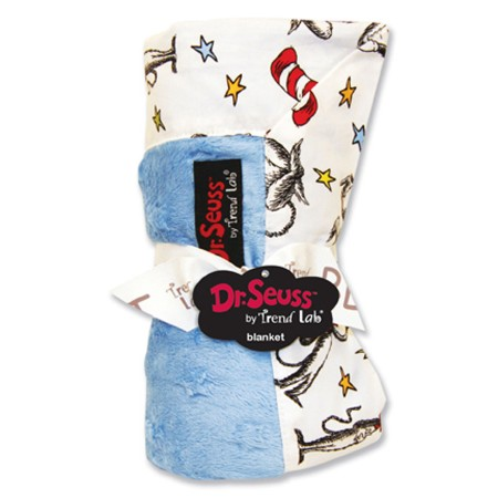 Dr Seuss Cat In The Hat Receiving Blanket- Black