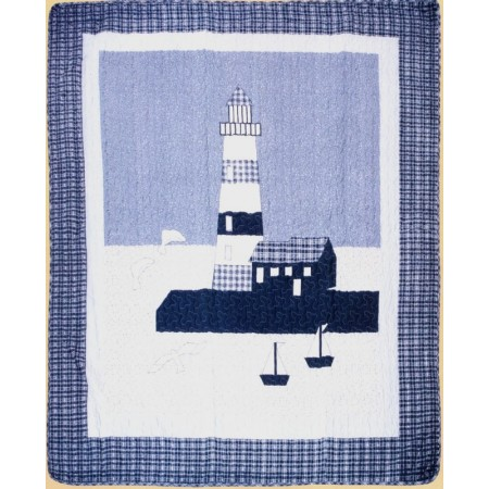 Lighthouse Throw Size Quilt
