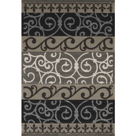 Turner Black Area Rug - Contemporary Style