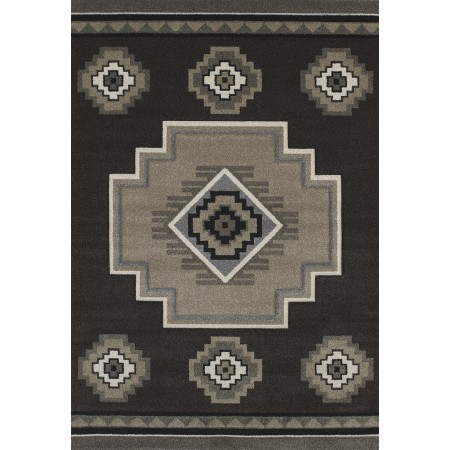 Mountain Brown Area Rug - Southwestern Style