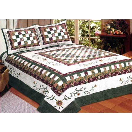 Tennessee Rose Quilt - Full/Queen Size