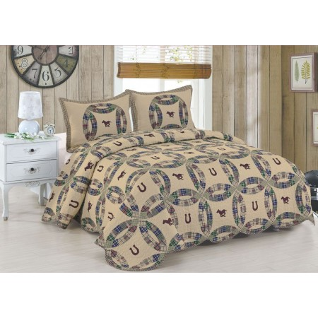 Round Up King Size Quilt Set - Includes 2 Standard Pillow Shams