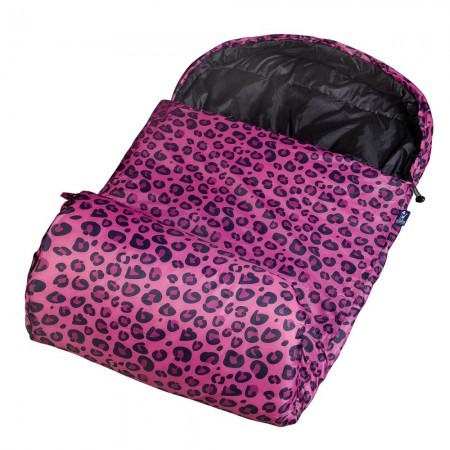 Pink Leopard Stay Warm Sleeping Bag by Olive Kids