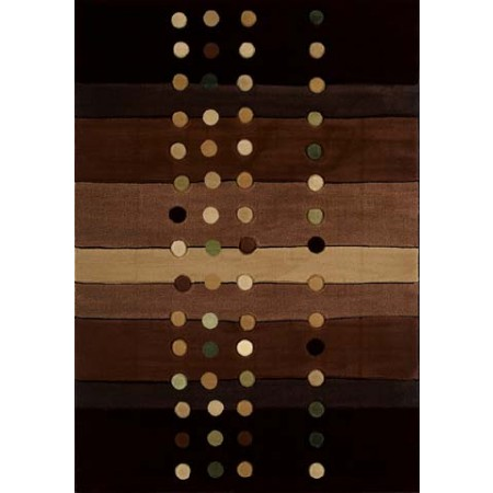Cascades Chocolate Area Rug - Geometric Style