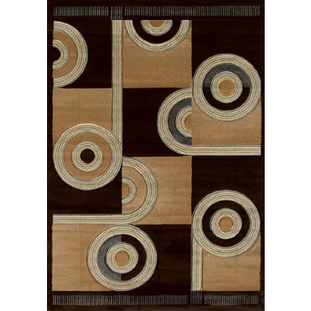Spiral Canvas Chocol Area Rug - Modern Style