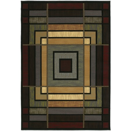 Ambience Blue Area Rug - Geometric Style