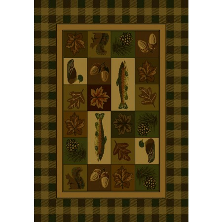 Timberland Area Rug - Cabin Style