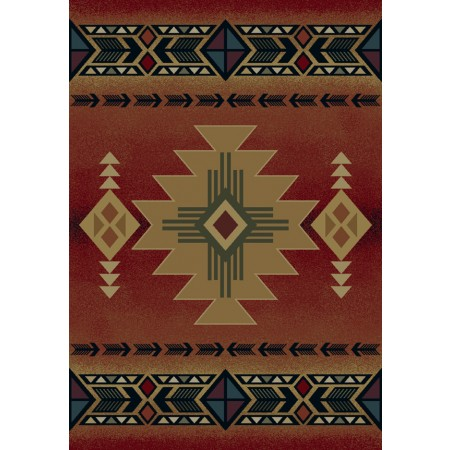 Arizona Crimson New Area Rug - Southwestern Style