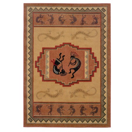 Ancient Icon Natural Area Rug - Southwestern Style