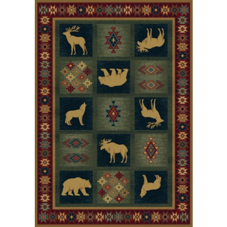 Dakota Natural Area Rug - Cabin Style
