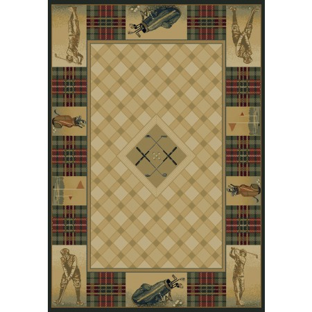 Classic Open Natural Area Rug - Cabin Style