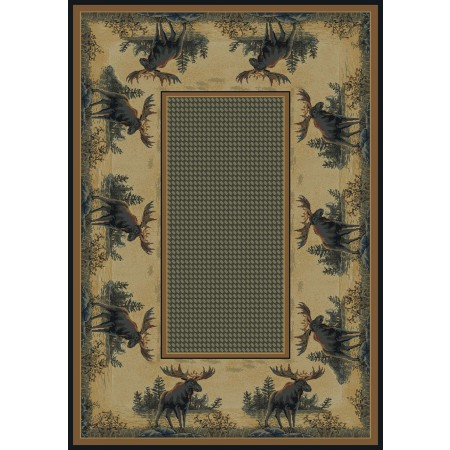Northwood Moose Area Rug - Cabin Style