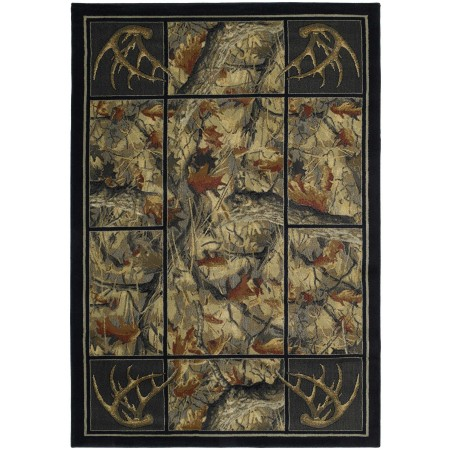 Antler's Camo Area Rug - Cabin Style