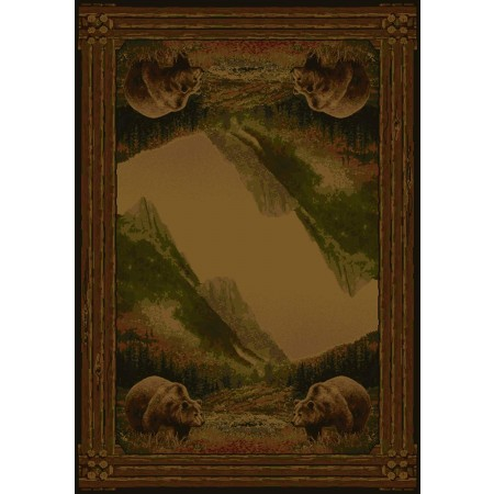 Grizzly Mountain Area Rug - Cabin Style