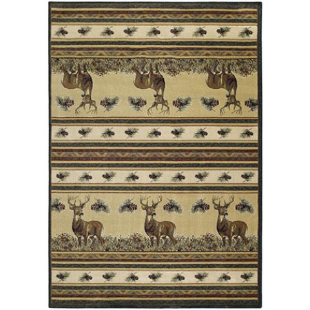 Master Of The Meadow Area Rug - Cabin & Lodge Style