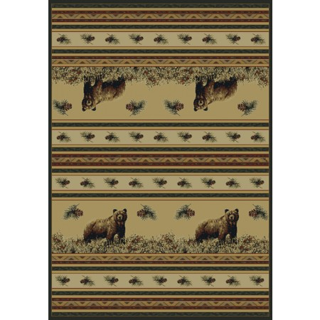 Pine Creek Bear Area Rug - Cabin & Lodge Style