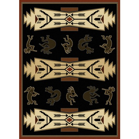 Trade Winds Black Area Rug - Southwestern Style