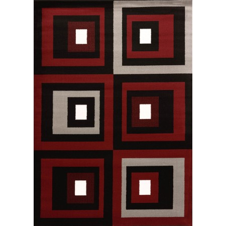 Studio Red Area Rug - Geometric Style