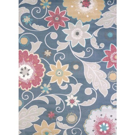 Parasol Blue Area Rug - Transitional Style