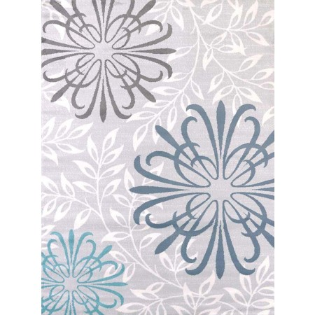 Duvet Blue Area Rug - Transitional Style