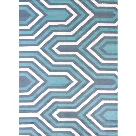 Cupola Blue Area Rug - Transitional Style