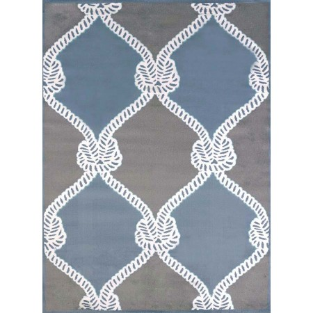 Cordage Blue Area Rug - Transitional Style