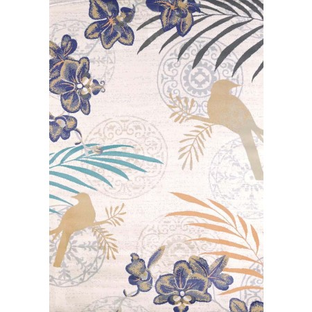 Orchid Linen Area Rug - Coastal Style