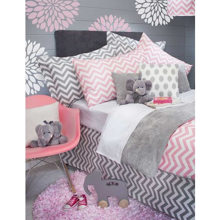 Swizzle Pink Duvet Cover by Sweet Potato