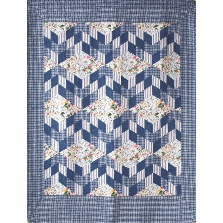 Romantic Stairs Throw Size Quilt
