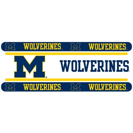 "Michigan Wolverines Wall Border - 5"" Tall X 15' Long - Clearance"
