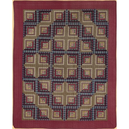 Cedar Creek Log Cabin Throw Size Quilt