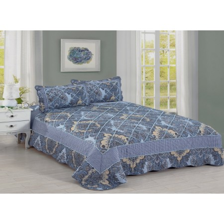 Geneva King Size Quilt Set - Includes 2 Standard Pillow Shams